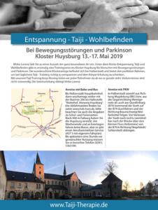 Keep Moving   Taiji-Therapie bei Bewegungsstörungen und Parkinson   Taiji-Training im Kloster Huysburg · Mai 2019